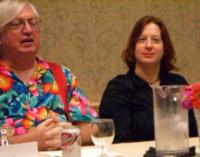 CIMG3746 Willie Siros and Diana Gill on the What You Should Have Read This Year panel at ArmadilloCon 2006