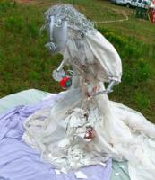 """CIMG6041 """"Marriage is (not) doing dishes together"""" sculpture at Flipside 2007"""