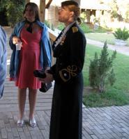 IMG_0613 Lynnea and Jen Peeples in her Blue Evening Dress Mess uniform