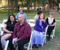 IMG_0616 Kim and Ashley, Denis, Marey, and Natasha wait for the ceremony to start