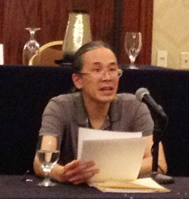 IMG_1482 Ted Chiang speaks about lifelogging at the ArmadilloCon 2014.