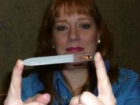 P1010628 Rhonda Eudaly with a nail file