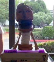 P548 The Babbling Robot Head, a Robot Group project exhibited at Linucon