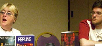 Selina Rosen and Jess Nevins at ApolloCon 2007
