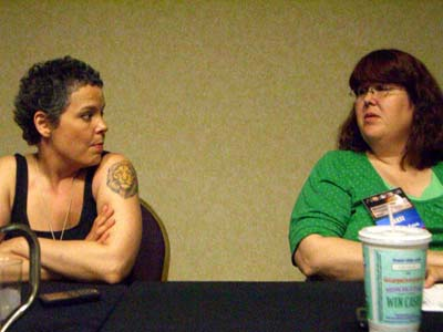Barbara Winter and Melanie Miller Fletcher at ApolloCon 2007