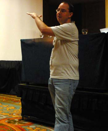 John Scalzi at his Guest of Honor interview