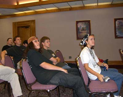 The audience at the Larval Mode panel