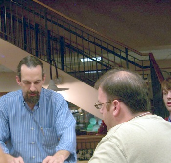Neal Stephenson signs books at Book People