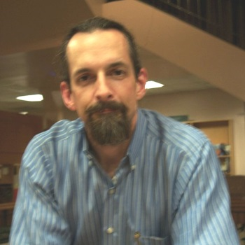 Neal Stephenson at Book People in Austin, TX in 2003 or 2004